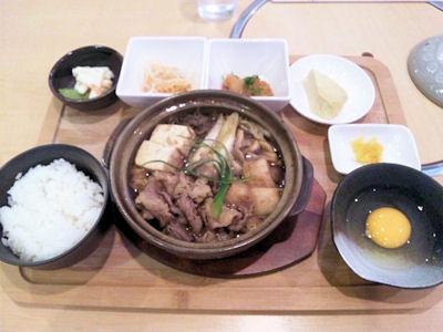 唐々鍋の店/荒井店日替り定食(スキヤキ)