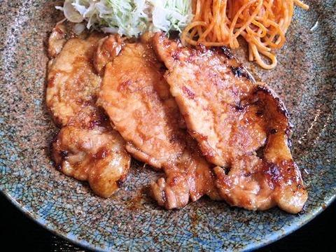 炭火焼肉みきや日替りサービス(生姜焼)