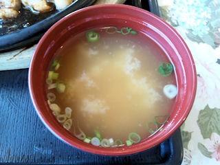 播磨の里本店トンテキ&ハンバーグ定食Aの味噌汁