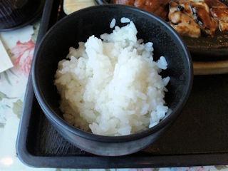 播磨の里本店トンテキ&ハンバーグ定食Aのライス