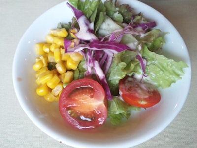 神戸ブランド亭/牛フィレとフォアグラのコンビステーキセットのサラダ