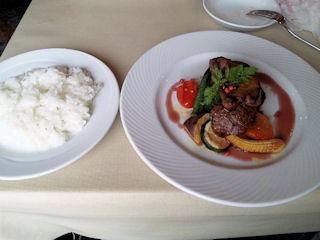 神戸ブランド亭/牛フィレとフォアグラのコンビステーキセット