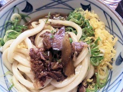 丸亀製麺肉ごぼうぶっかけうどんの肉ごぼう