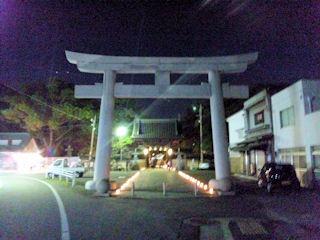たかさご万灯祭2011高砂神社大鳥居