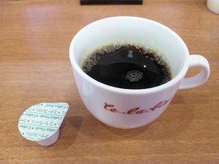 真打ち麺せらび亭食後のコーヒー