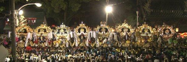 高砂神社秋祭り8台練り
