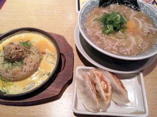 丸源ラーメン/肉そば&チャーハン・餃子セット