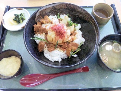 山陽自動車道三木SA三田ポークとやまのいもの花咲き丼