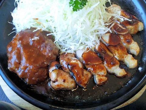 播磨の里本店トンテキ&ハンバーグ定食A