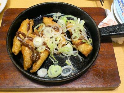 世界の山ちゃん姫路駅前店鶏皮ギョウザ鉄板