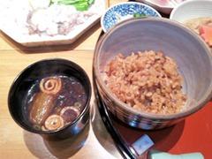 赤石蛸御膳の鮹めしと赤出汁