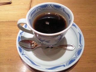 赤石蛸御膳の食後のコーヒー