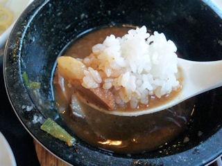 濃厚つけ麺風雲丸/石焼つけ麺の雑炊ご飯