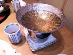 赤石蛸御膳のたこしゃぶの鍋