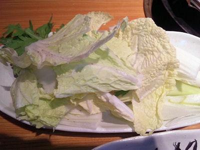但馬屋イオン加古川店豚しゃぶランチの野菜