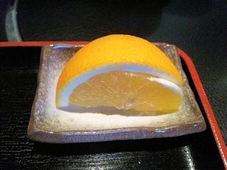 神戸牛の大井屋/ロースステーキ定食のフルーツ
