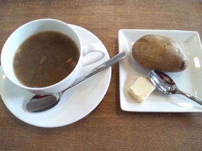 欧風カレー小夢スープとポテト