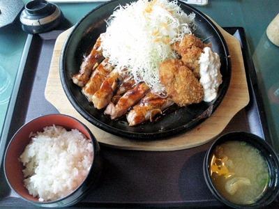 播磨の里/トンテキ&カキフライ定食