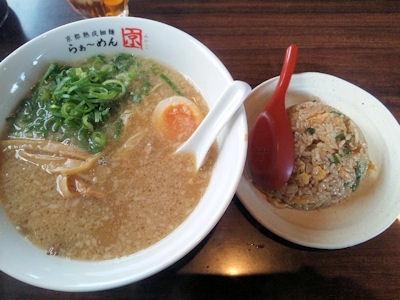京都熟成細麺らぁ~めん京/Cセット(ミニ焼めしランチ)