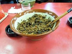 元祖長浜ラーメン金豚食べ放題の高菜