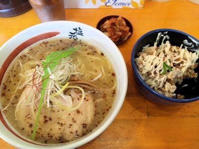 小野塩元帥Cセット(天然塩ラーメンとチャーマヨ丼)