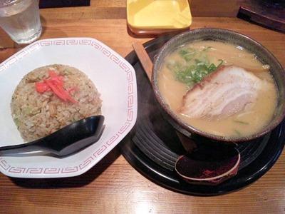 京風ラーメンめんくい亭ミニミニセット(ミニとんこつ醤油ラーメンとミニやきめし)