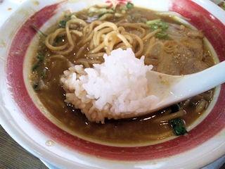 新・和歌山らーめんばり馬濃厚味噌カレー太麺と白めし