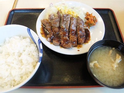 松屋/豚テキ定食(ライス大盛り)