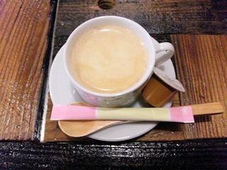 般゜若パンニャ/大阪福島店のカツカレーのコーヒー