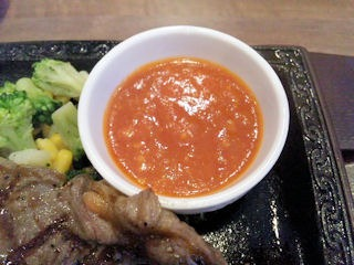 ステーキガスト加古川尾上店サーローインステーキのガーリックソース