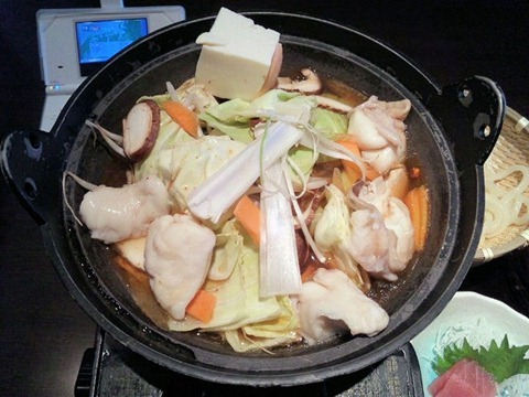ごちそう村/鍋めぐり御膳(牛もつ鍋)の鍋