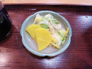 喜両由すき鍋定食のお漬物