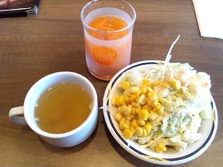 ステーキガスト/ジュースとスープとサラダ
