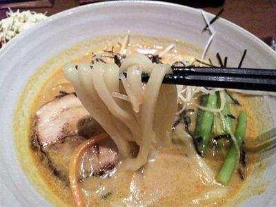 麺茶屋玉家通のカレーうどんの麺