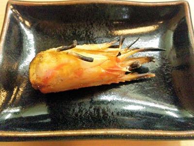 菊水鮓上にぎりの車えびの頭