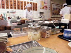 天ぷら定食まきの海老づくし天ぷら定食の日の店内