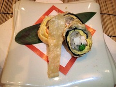 はっそう懐石ゆめの里/肉懐石太刀魚とえびの天ぷら