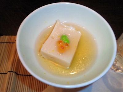 はっそう懐石ゆめの里/肉懐石とうもろこしの豆腐