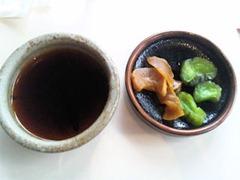 ステーキレストラン・グルメ吉翔和牛ヘレランチコースのお漬物