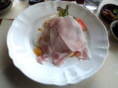 ステーキレストラン・グルメ吉翔和牛ヘレランチコースのハムと野菜の盛合わせ