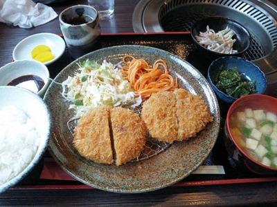 炭火焼肉みきやコロッケ定食