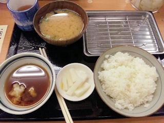 天ぷら定食まきの海老づくし天ぷら定食のライスと味噌汁