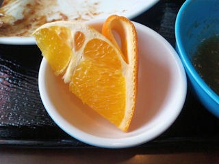 明日香高砂伊保店日替りランチのフルーツ
