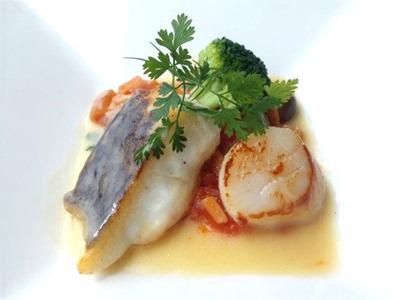 南淡路ロイヤルホテルレストラン四季洋食ランチ白身魚のポワレ