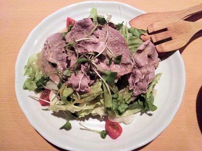 創作料理花鳥風月豚ロース肉のゴマしゃぶサラダ
