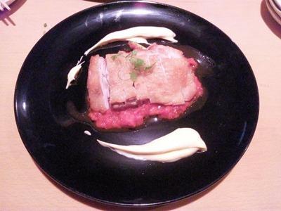 創作料理花鳥風月若鶏もも肉のステーキディアボラ風