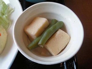 明日香高砂伊保店日替りランチの高野豆腐の煮物