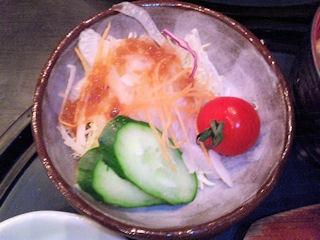 淡路ハイウェイオアシス『みけ家』淡路牛の和風ハンバーグ御膳のサラダ