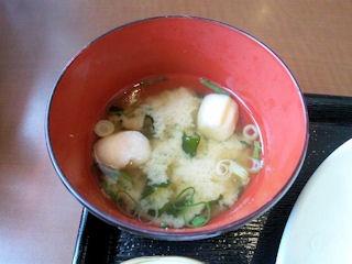 明日香高砂伊保店日替りランチの味噌汁