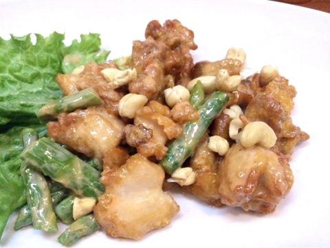 王将/高砂店鶏とアスパラのスイートマヨ